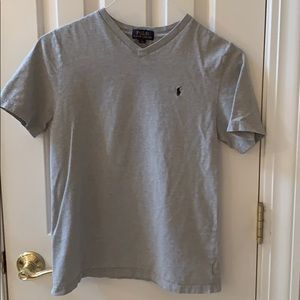Boys light grey short sleeve Ralph Lauren tee LG
